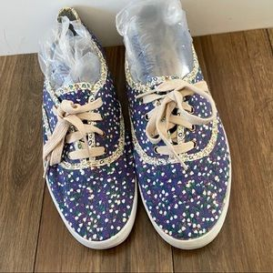 Keds Blue Floral Sneakers